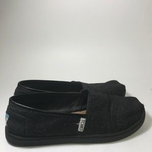 Tons Youth Loafers Size 4 Black Glitter